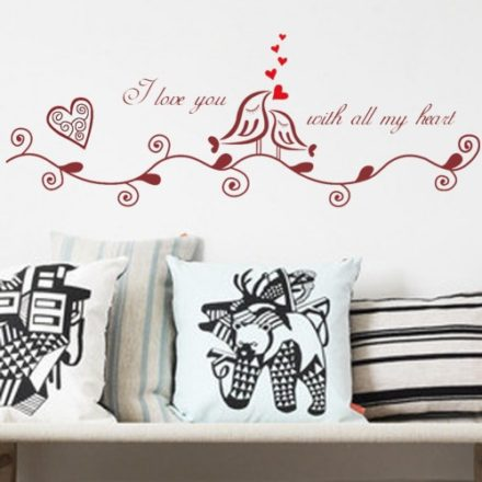 I love you with all my heart wallsticker