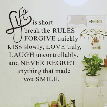 Life is short wallsticker
