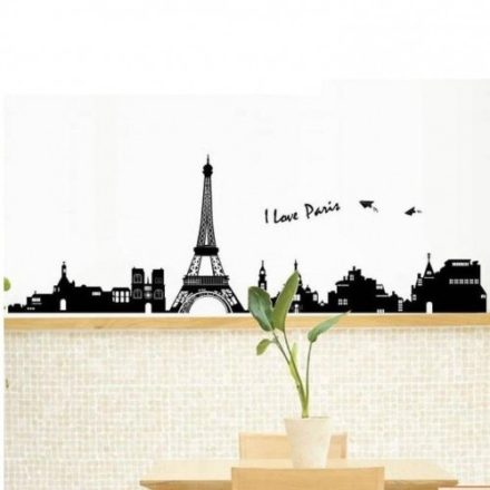 Paris og Eiffeltårnet wallsticker