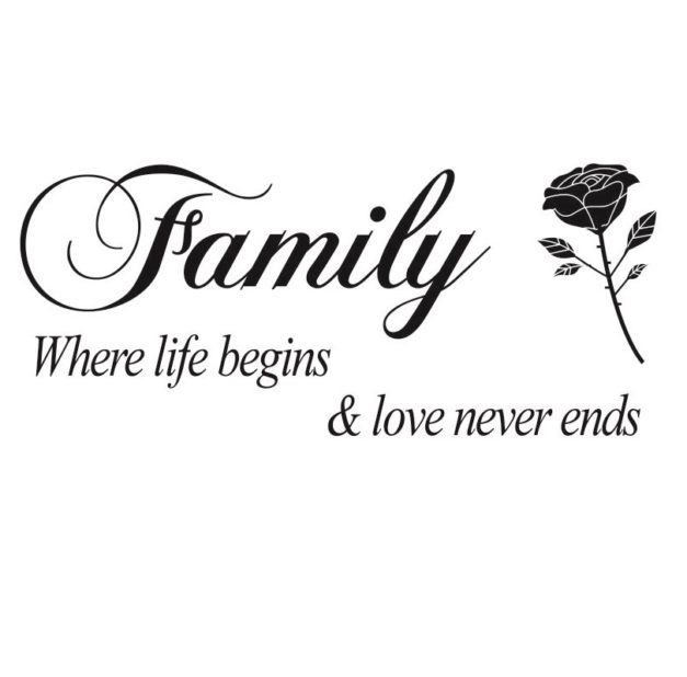 Family where life begins - WorldOfStickers.dk