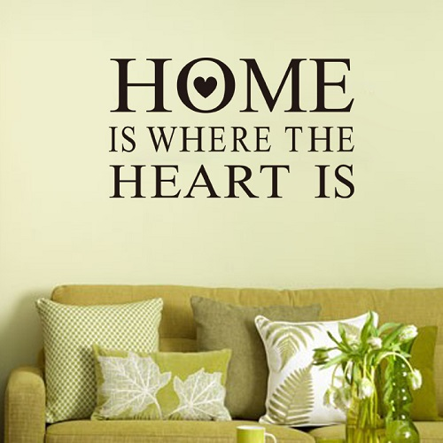 Home is where the heart is - WorldOfstickers.dk