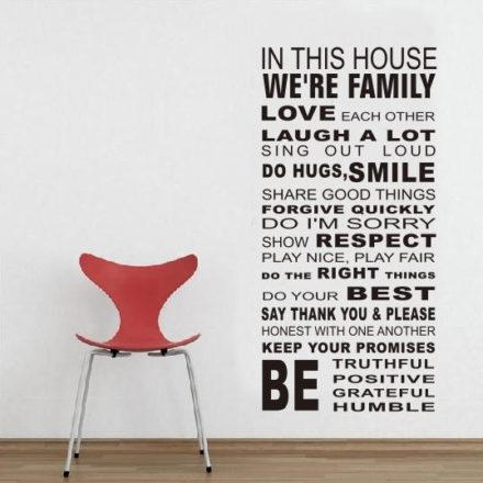 In this house were family - WorldOfStickers.dk